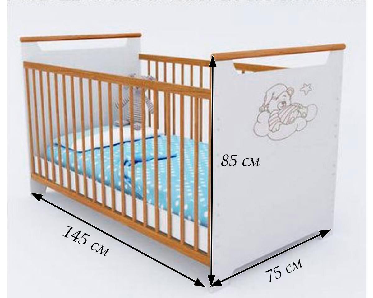 размеры кроватки для новорожденных
