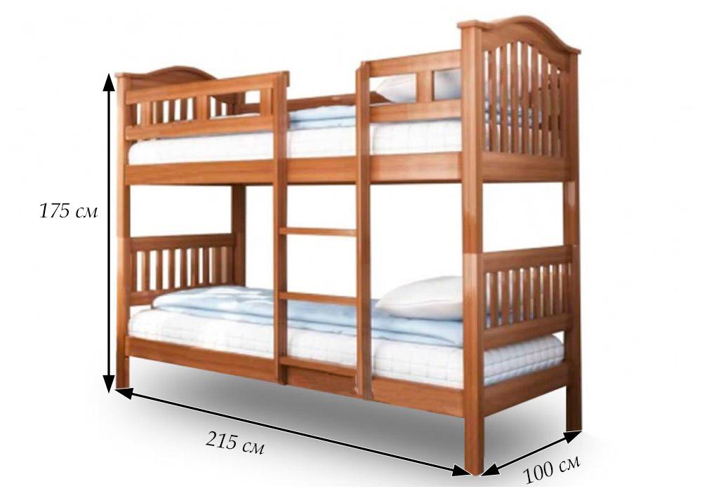 размеры двухъярусной кровати максим