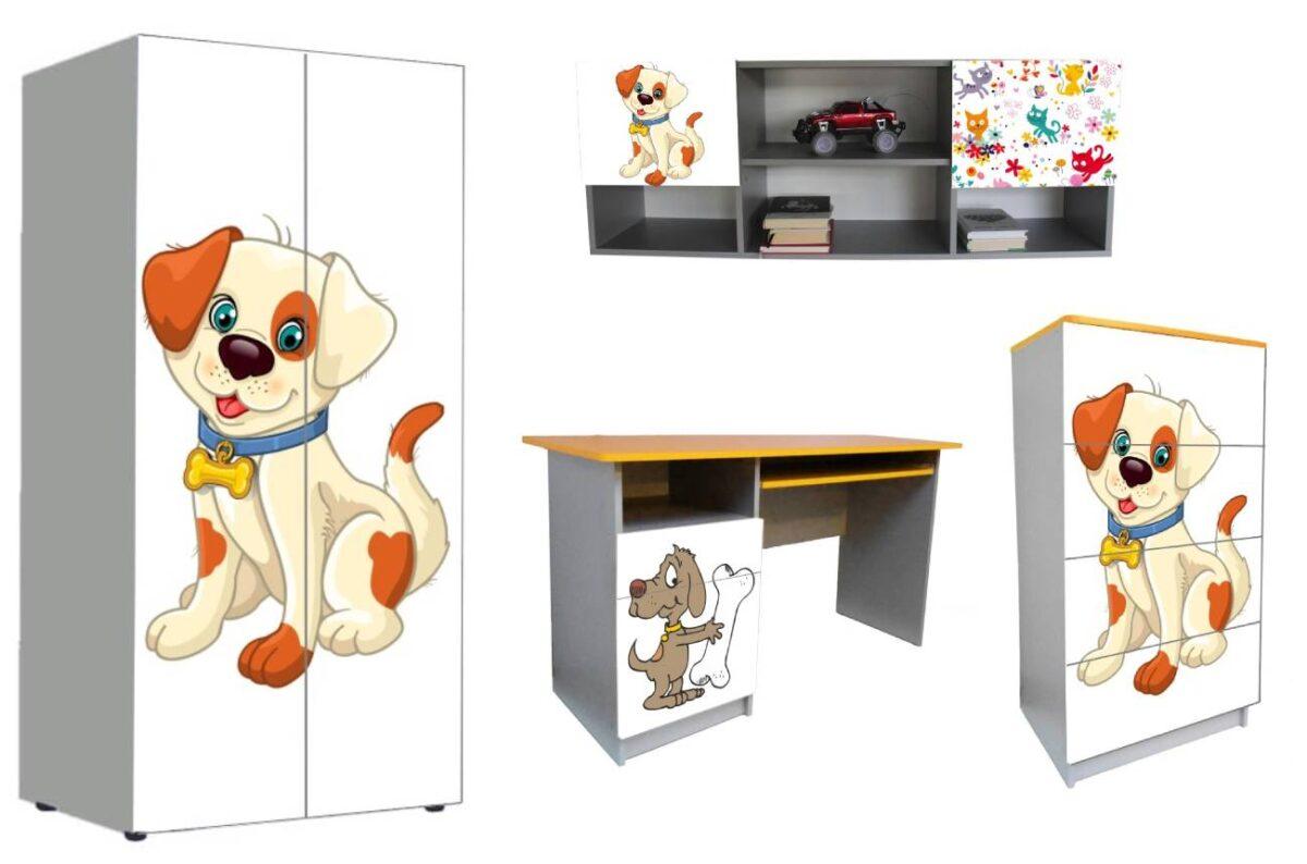 детская мебель в 1 стиле собачки мультяшные