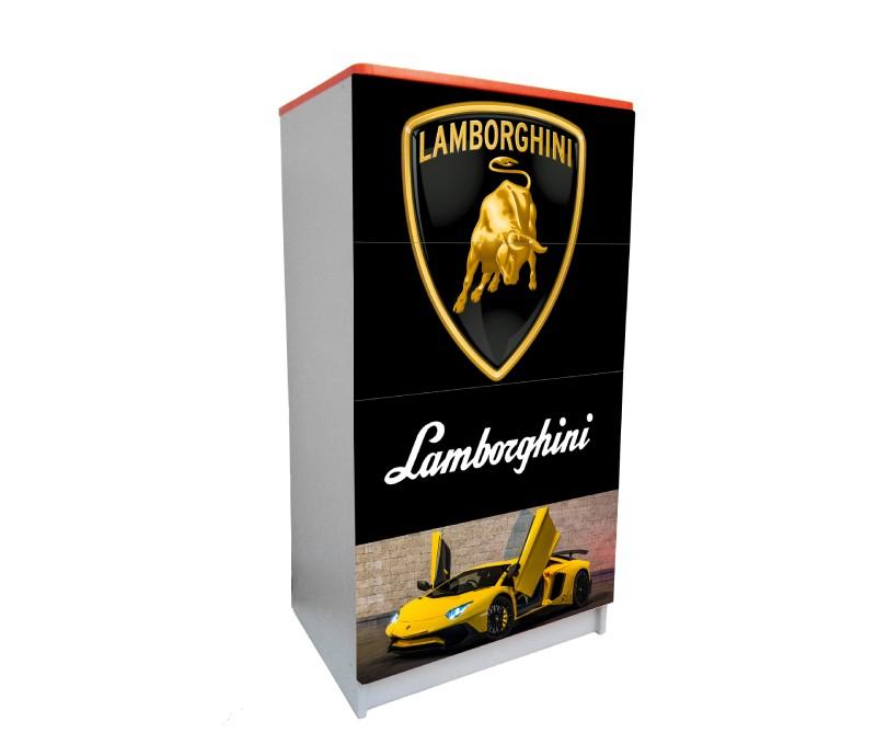 детский комод на 4 ящика ламборджини логотипы