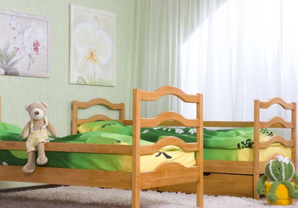 детская кровать софия из двухъярусной кровати трансформера