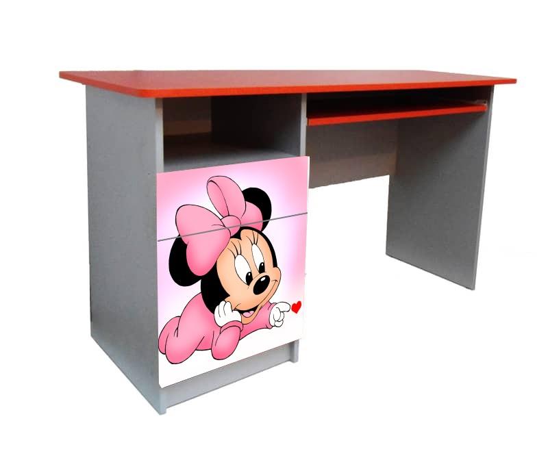 подростковый письменный стол минни розовый
