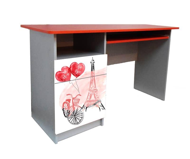 письменный стол париж красный