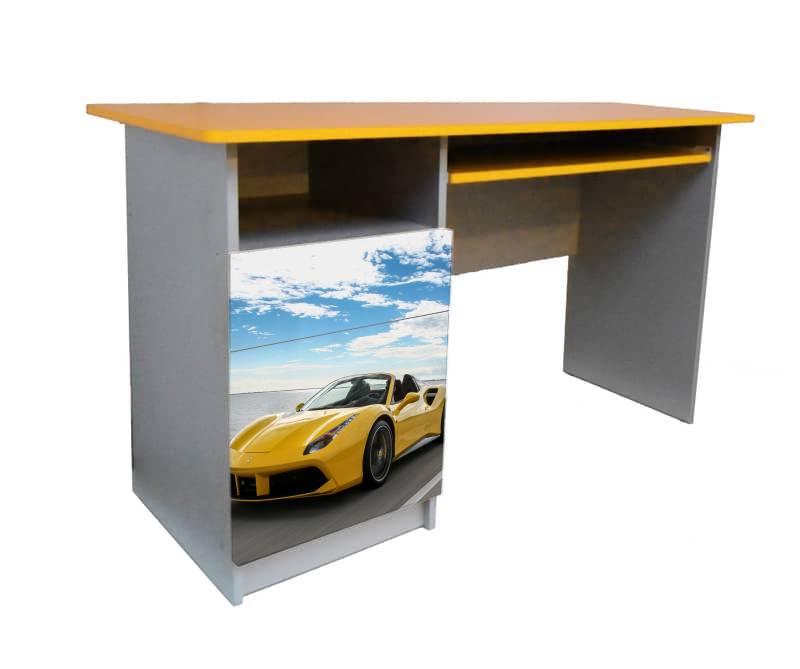 письменный стол феррари желтый