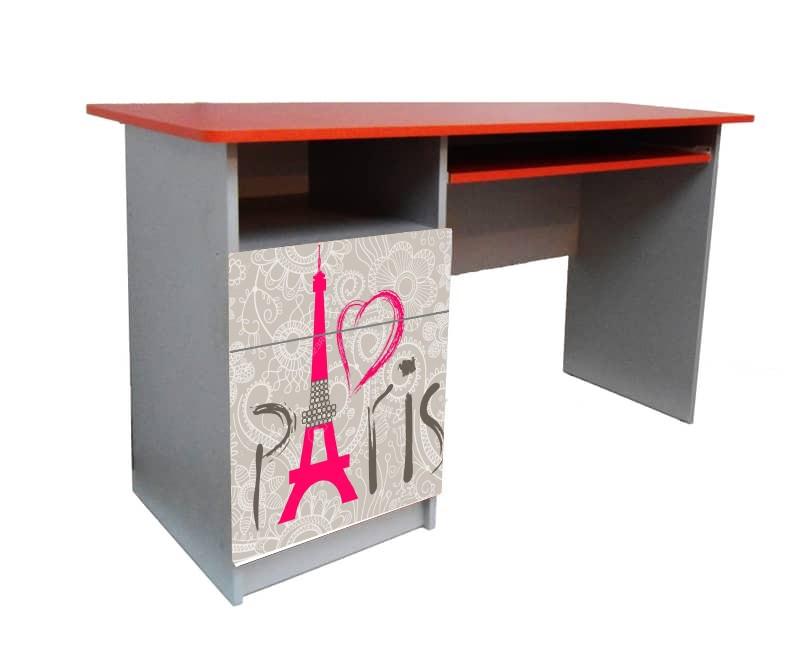 письменный стол париж красный с серым