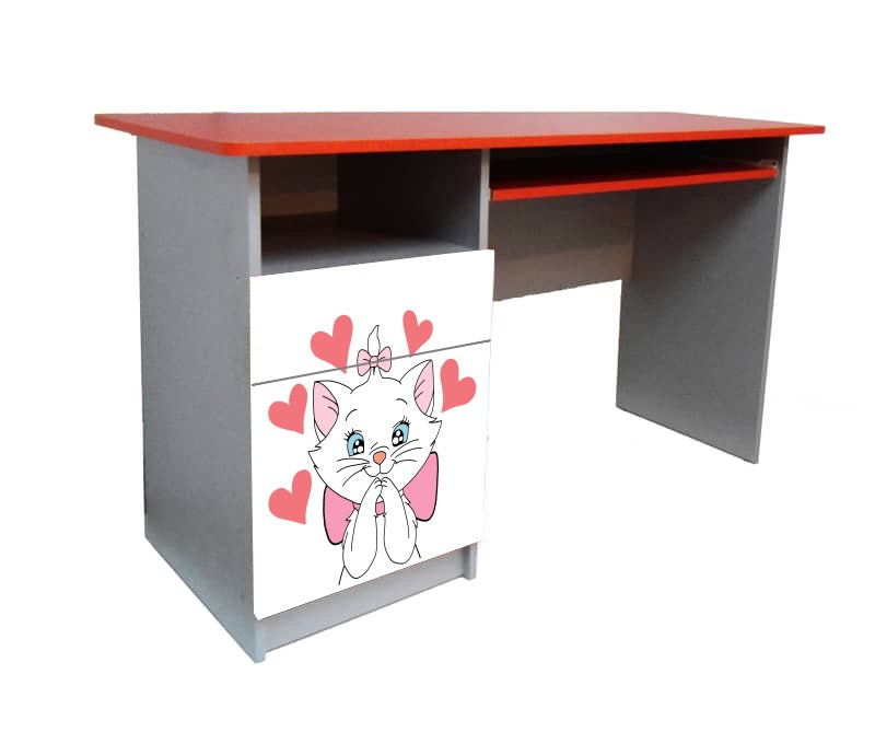 подростковый письменный стол кошечка мэри белая