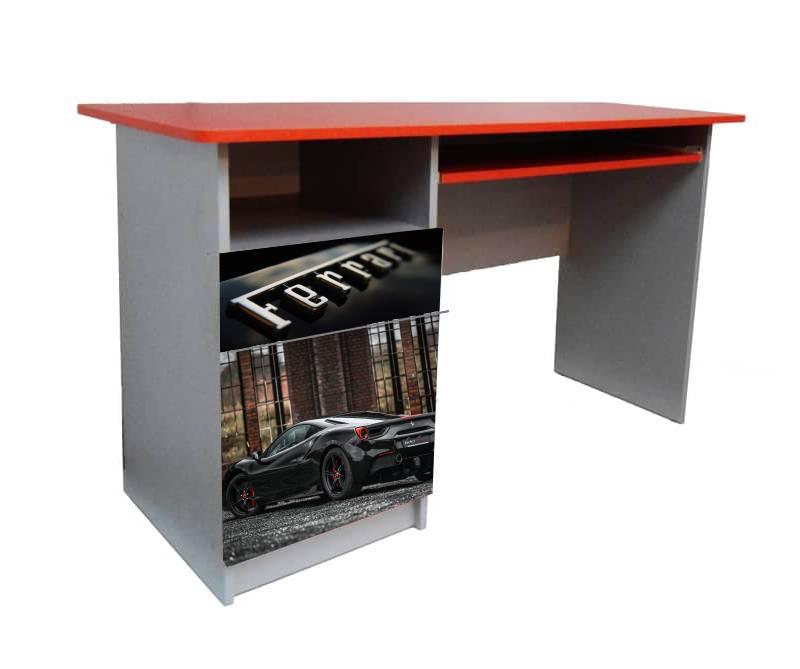 красный письменный стол феррари