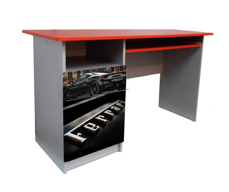 красный письменный стол феррари черная