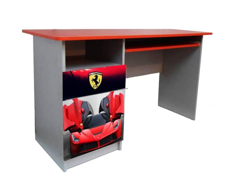 письменный детский стол феррари красная
