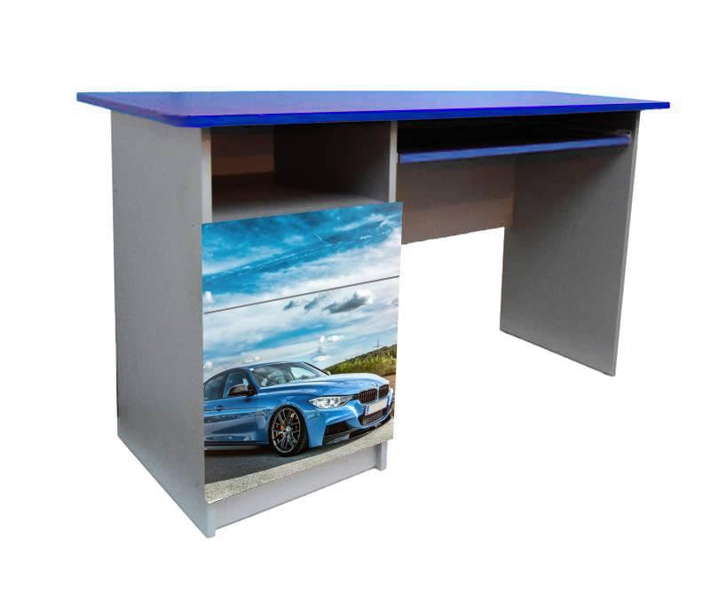 детский письменный стол голубая бмв