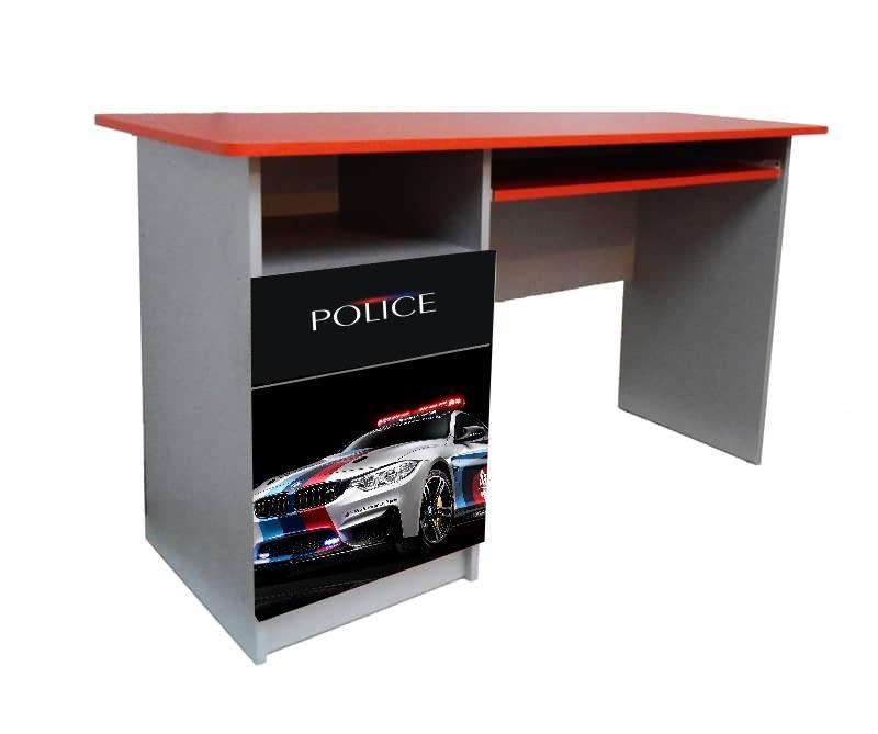 детский письменный стол полиция красная