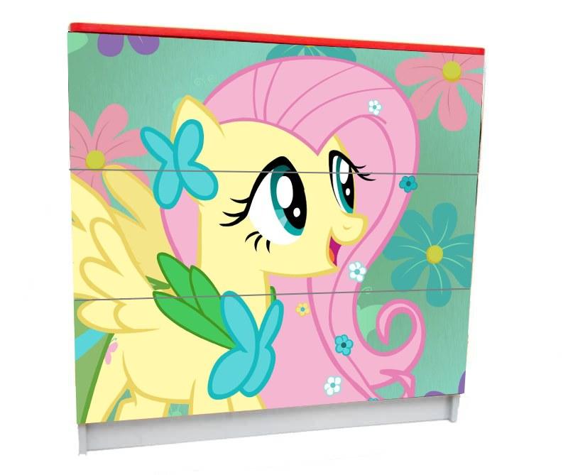 детский комод на 3 ящика pony красивый