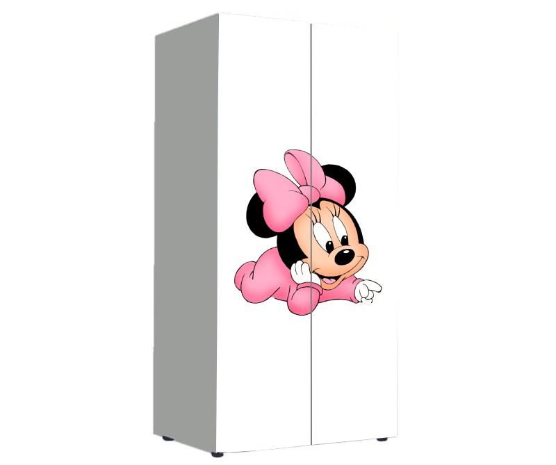 детский шкаф для девочки минни маус белый