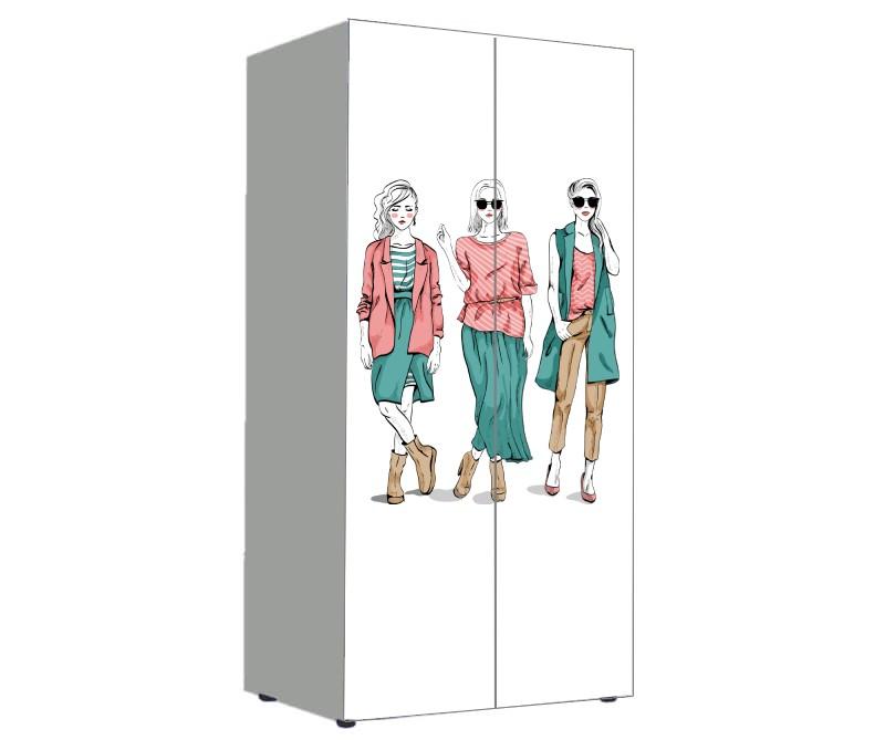 детский шкаф модный гламур