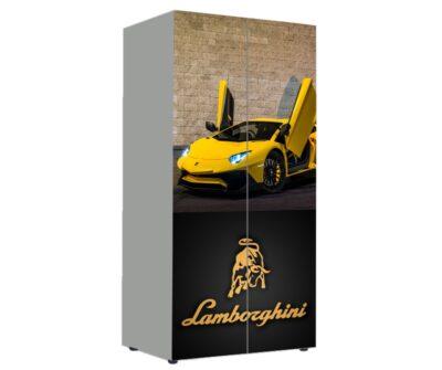 детский шкаф ламборджини желтый
