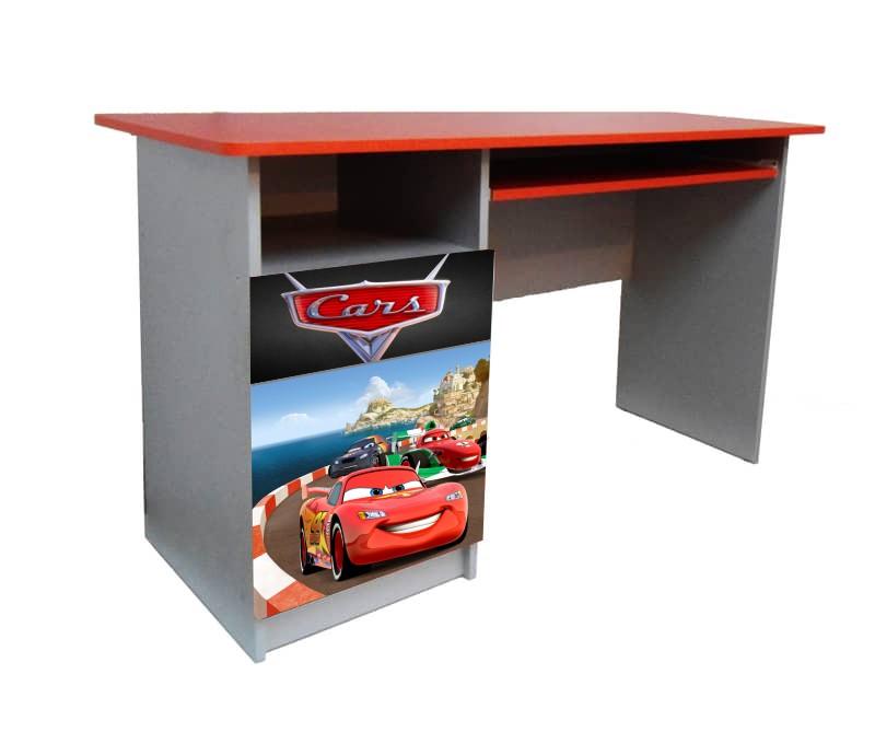 красный письменный детский стол маквин тачки