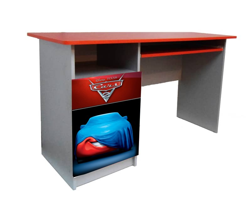 красный письменный детский стол тачки красная с синим