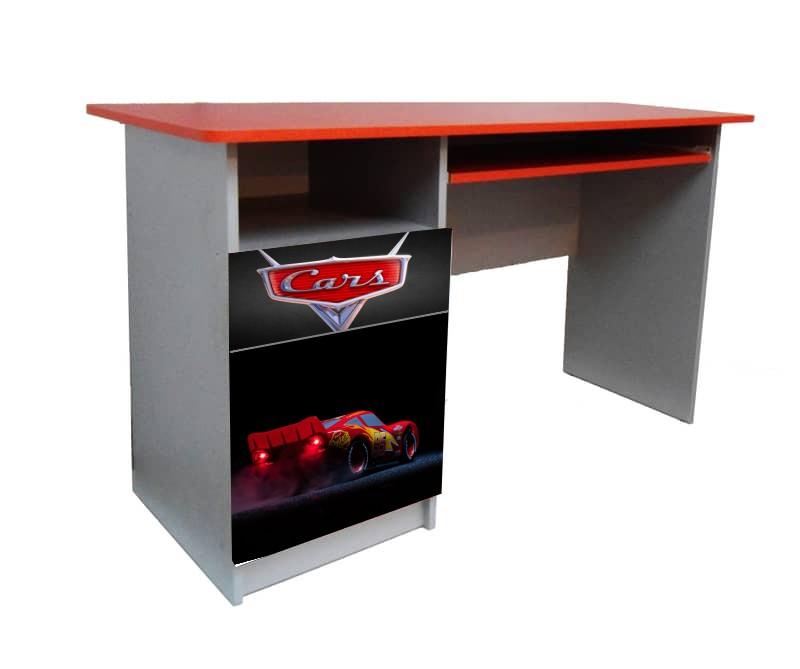 письменный стол маквин красный с черным