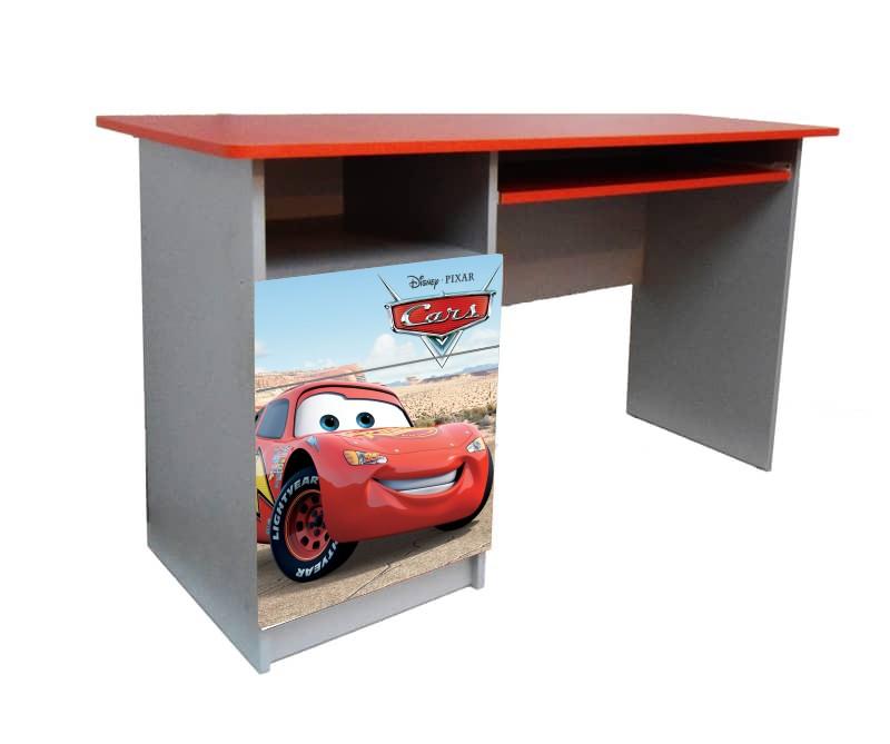 красный письменный стол для школьника маквин