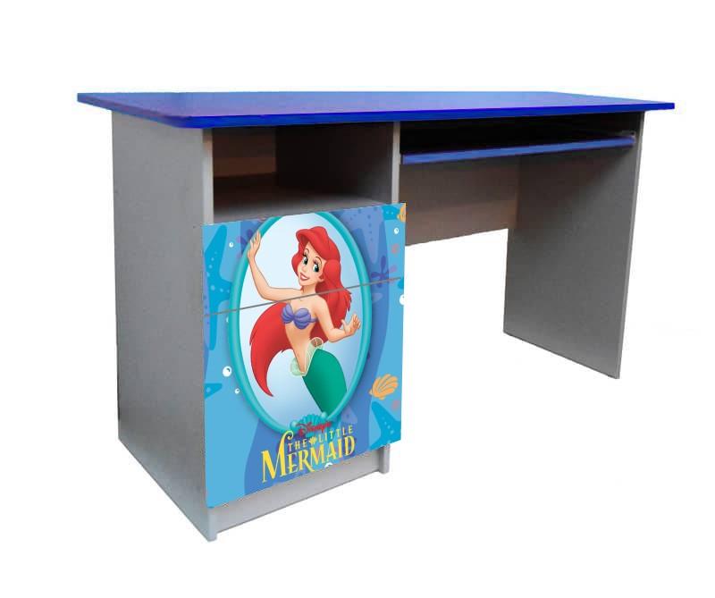 письменный стол для девочки русалочка принцесса
