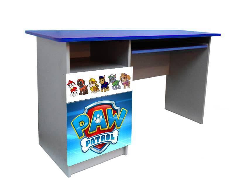 письменный стол щенячий патруль синий
