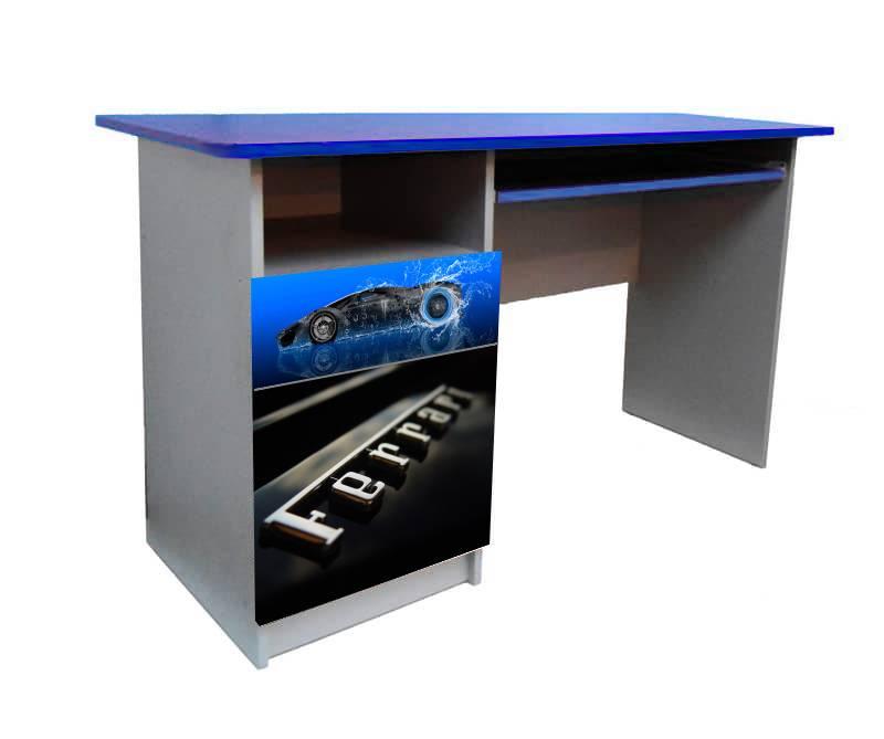 синий письменный стол феррари