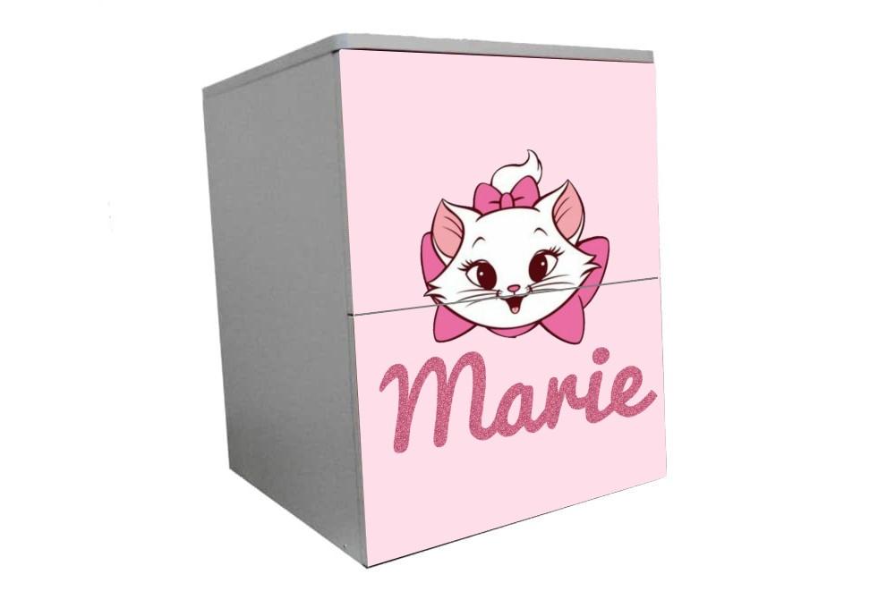 детская тумбочка на 2 ящика кошечка мэри