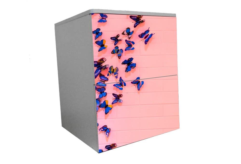 детская прикроватная тумба бабочки