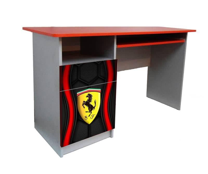 красный письменный стол феррари логотип