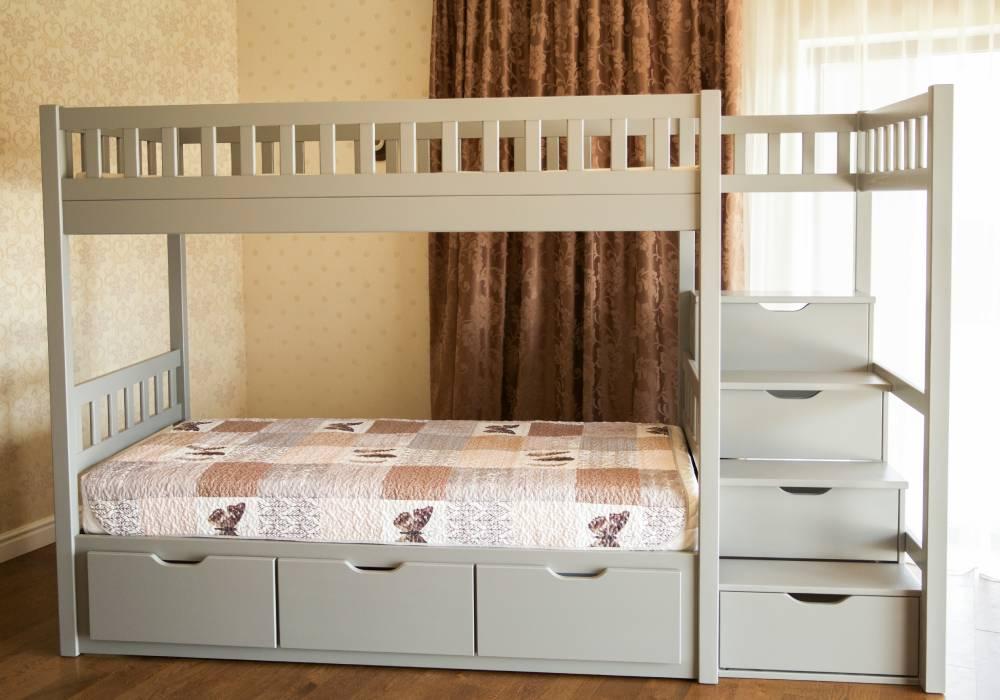 двухъярусная кровать владимир с лестницей
