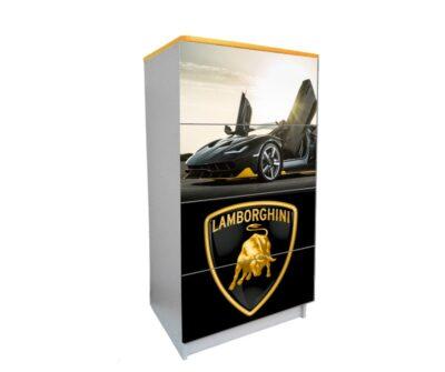 детский комод на 4 ящика ламбо-двери черный логотип 2