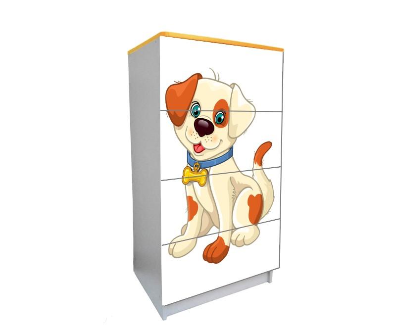 детский комод на 4 ящика мульт собачка