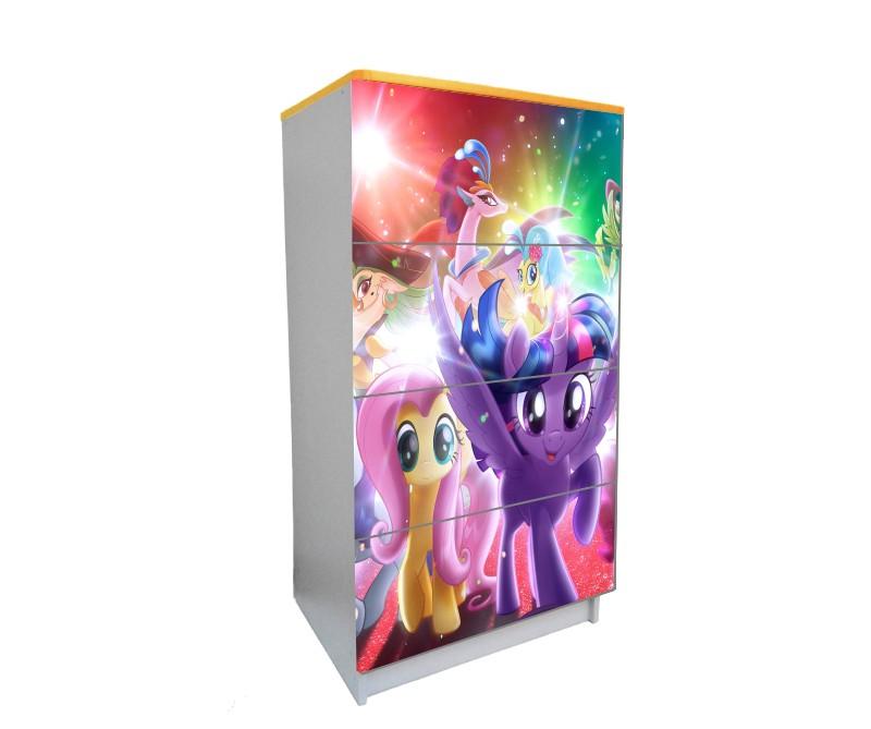 детский комод на 4 ящика мой маленький пони