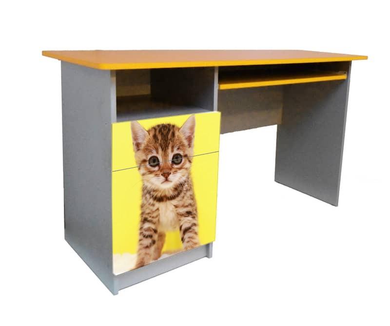письменный стол котенок желтый