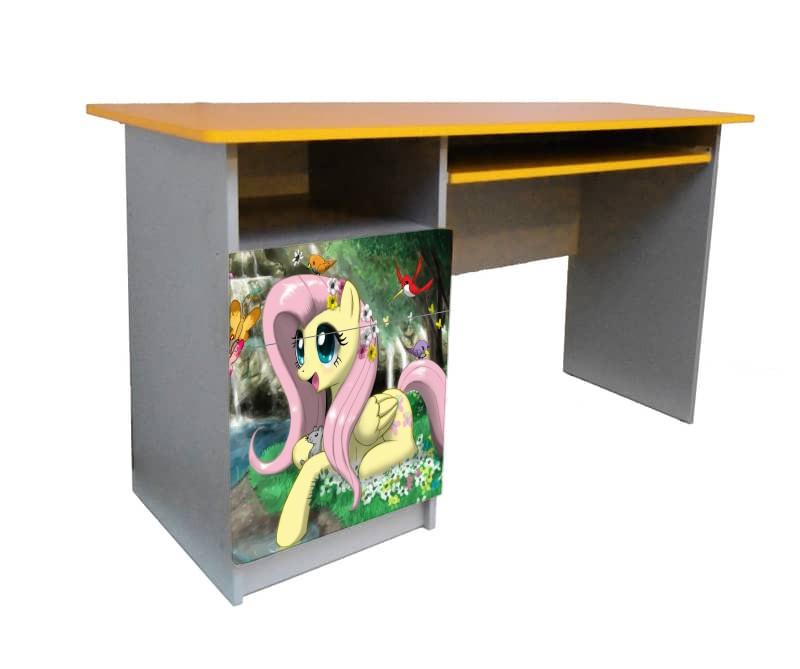 письменный стол для школьницы пони желтый