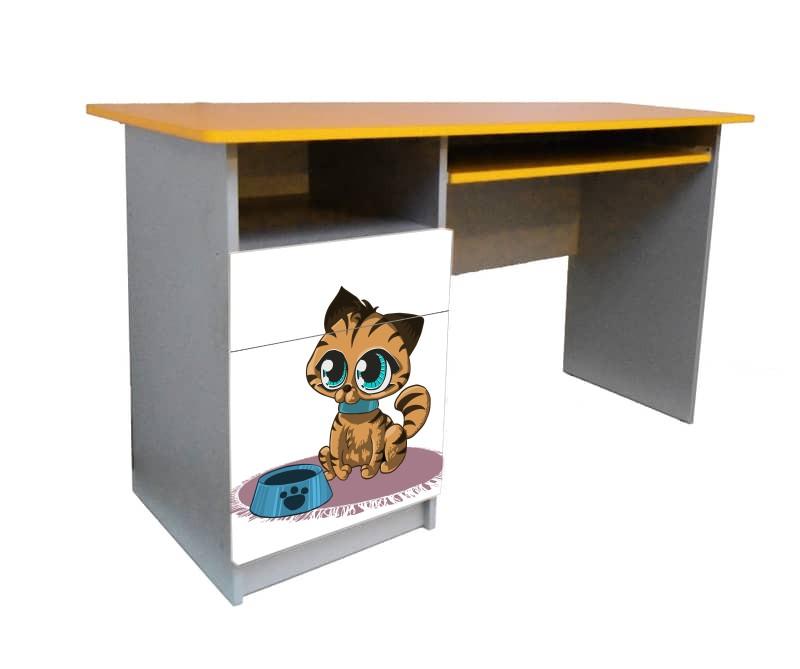 письменный стол котик мультяшка