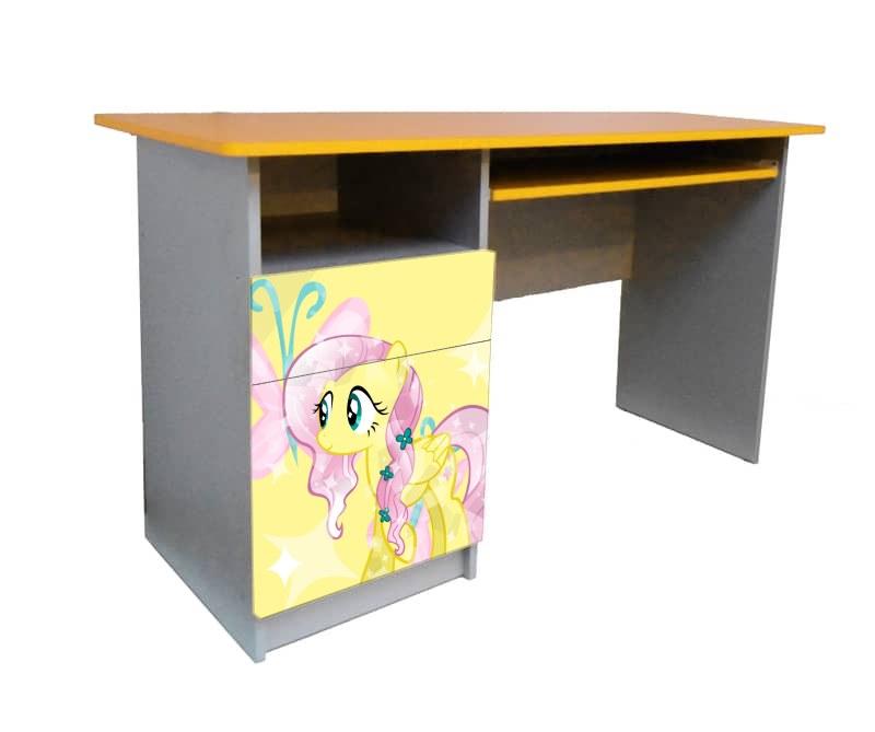 письменный стол желтый с розовым my little pony