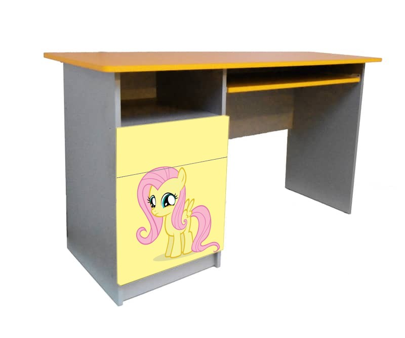 письменный стол для девочки желтый май литл пони