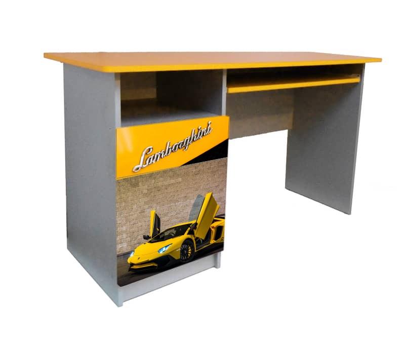 желтый письменный стол ламборджини для мальчика