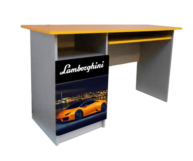 письменный стол ламбо с черным логотипом для мальчика