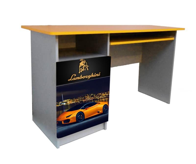 желтый письменный стол ламбо оранжевый