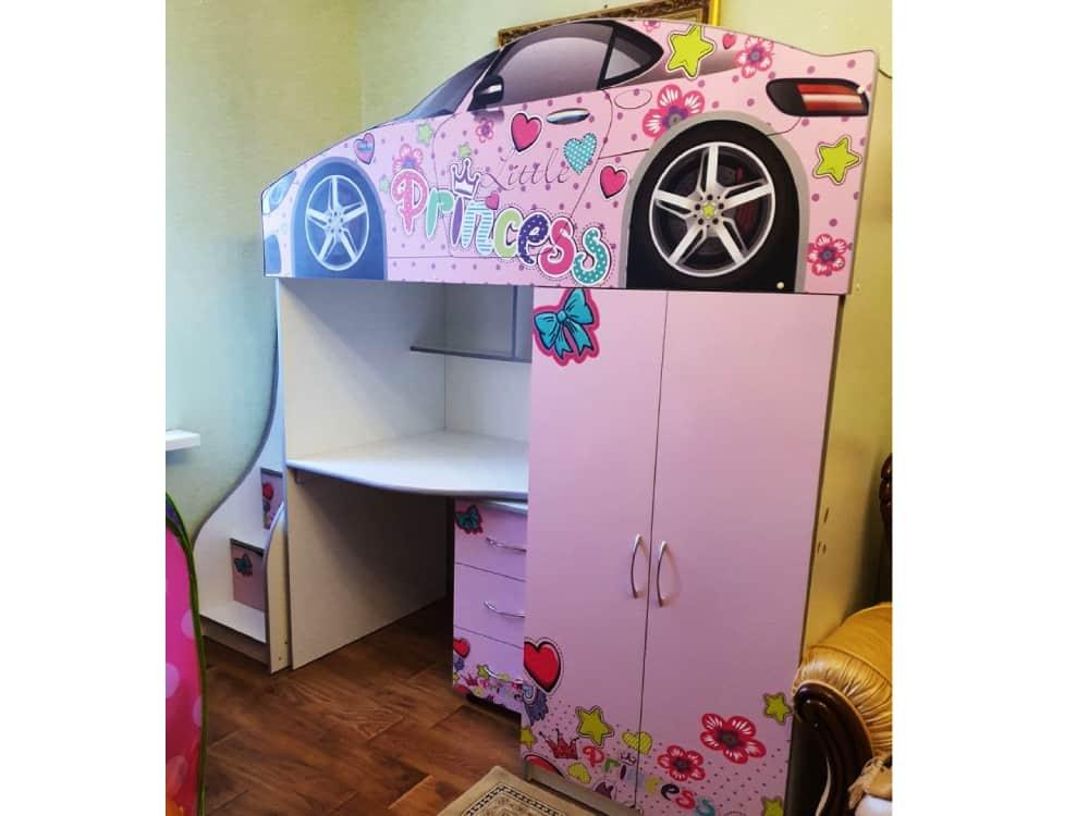 кровать чердак машина принцессы бр1