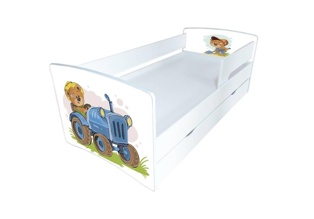 кровать киндер кул мишка на тракторе