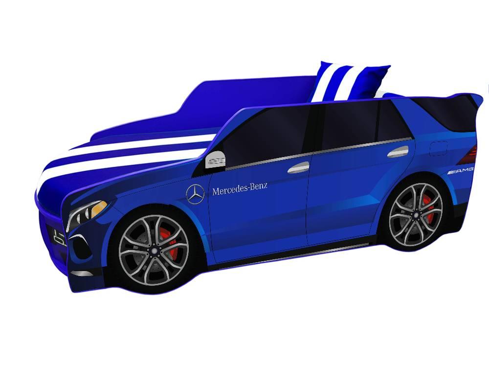 детская кровать машина мерседес синий