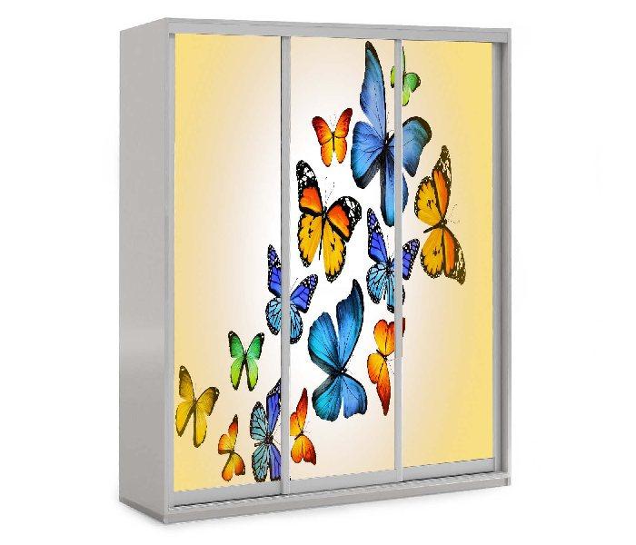 детский шкаф купе 3 двери бабочки