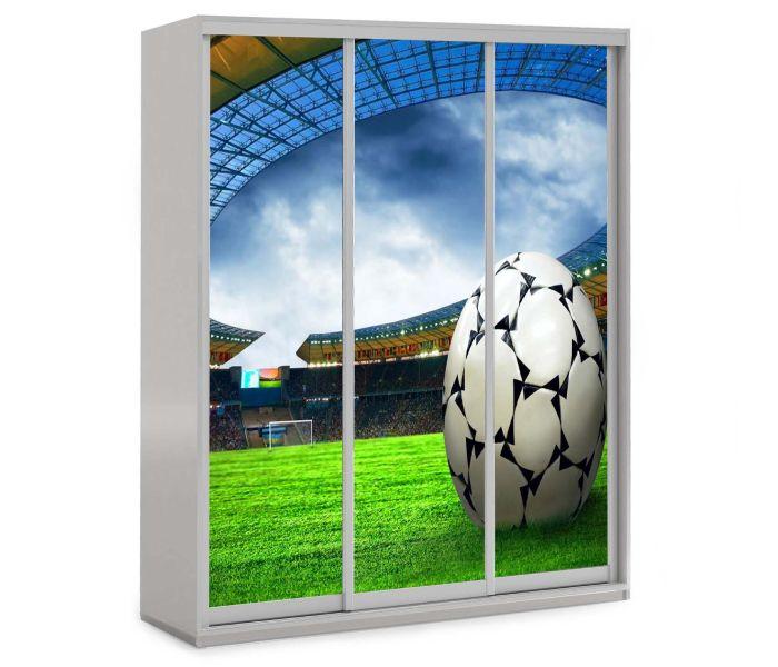 детский шкаф купе 3 двери футбол