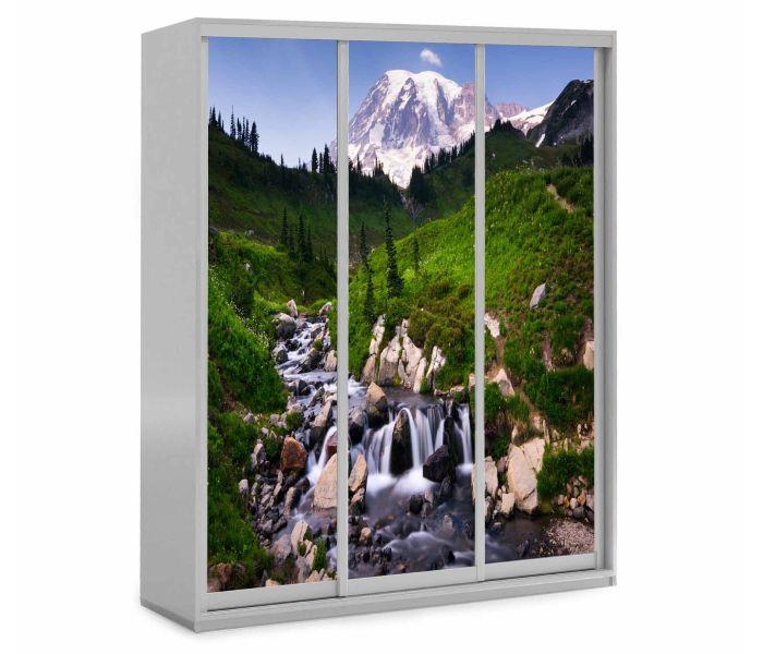 детский шкаф купе 3 дверки горы природа