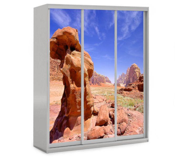 детский шкаф купе 3 двери с камнем