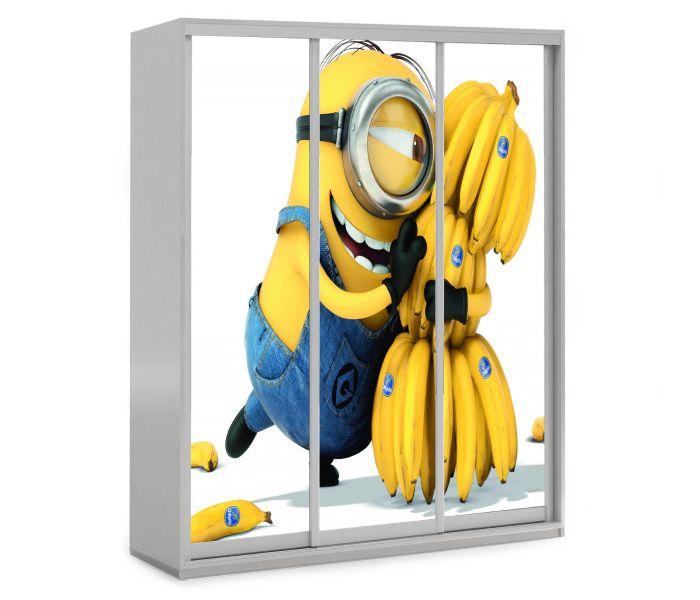детский шкаф купе 3 дверки миньйон