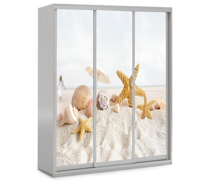 детский шкаф купе 3 двери ракушки